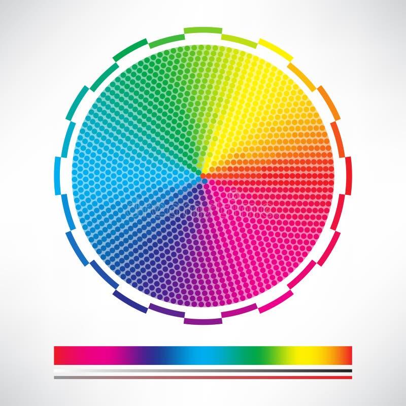 Διαστιγμένο διάνυσμα κύκλων διαγραμμάτων χρώματος ελεύθερη απεικόνιση δικαιώματος