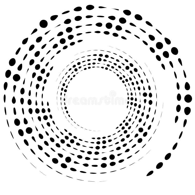 Διαστιγμένο κυκλικό στοιχείο Γραπτό illustrati Mononochrome ελεύθερη απεικόνιση δικαιώματος
