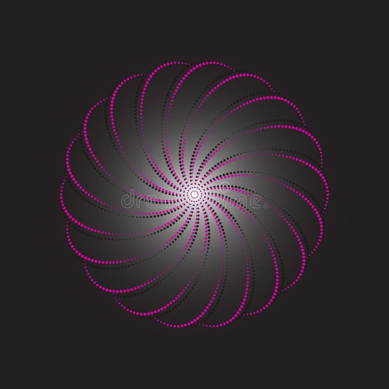 Διαστιγμένο περίληψη διάνυσμα με μορφή ενός λουλουδιού ελεύθερη απεικόνιση δικαιώματος