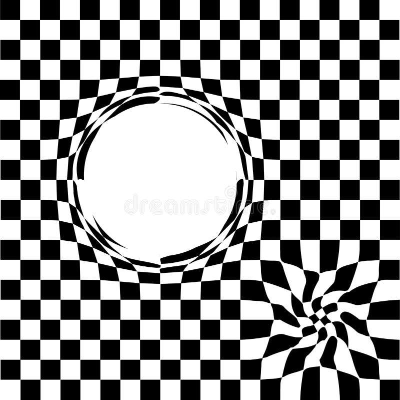 Διαστρέβλωση στο διάστημα η μαύρη τρύπα τακτοποιεί το Μαύρο - λευκό επίσης corel σύρετε το διάνυσμα απεικόνισης διανυσματική απεικόνιση