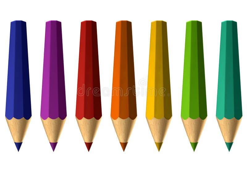 Διαστρεβλωμένα μολύβια στοκ φωτογραφία με δικαίωμα ελεύθερης χρήσης