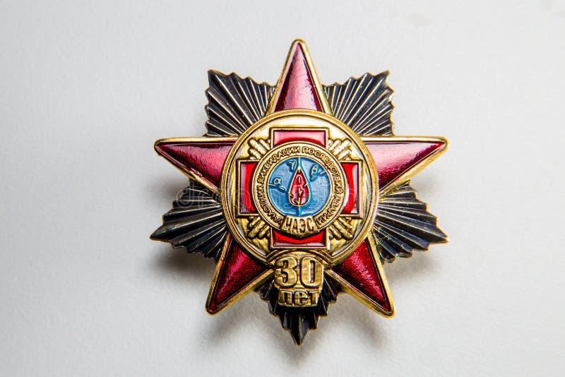 Διαταγή στην επέτειο zo του ατυχήματος του Τσέρνομπιλ στοκ εικόνα