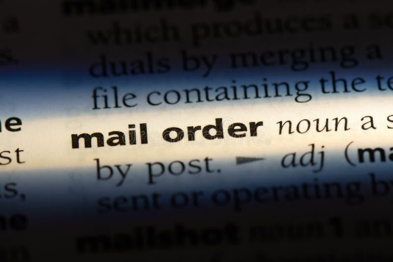 διαταγή ταχυδρομείου στοκ φωτογραφίες