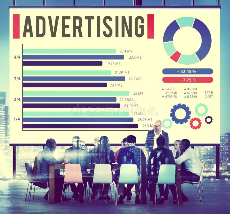 Διαφήμισης ψηφιακή έννοια προώθησης μάρκετινγκ εμπορική στοκ εικόνα με δικαίωμα ελεύθερης χρήσης