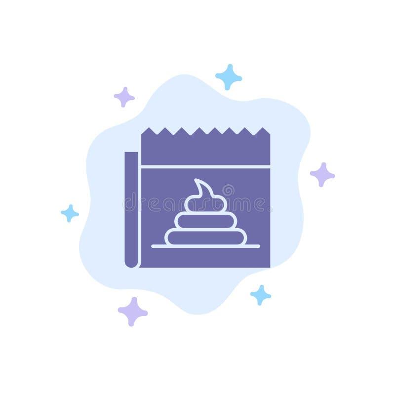 Διαφήμιση, απομίμηση, εξαπάτηση, δημοσιογραφία, μπλε εικονίδιο ειδήσεων στο αφηρημένο υπόβαθρο σύννεφων απεικόνιση αποθεμάτων