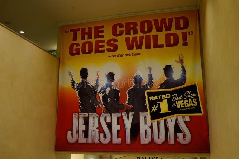 Διαφήμιση Λας Βέγκας, Νεβάδα αγοριών του Τζέρσεϋ στοκ φωτογραφίες με δικαίωμα ελεύθερης χρήσης
