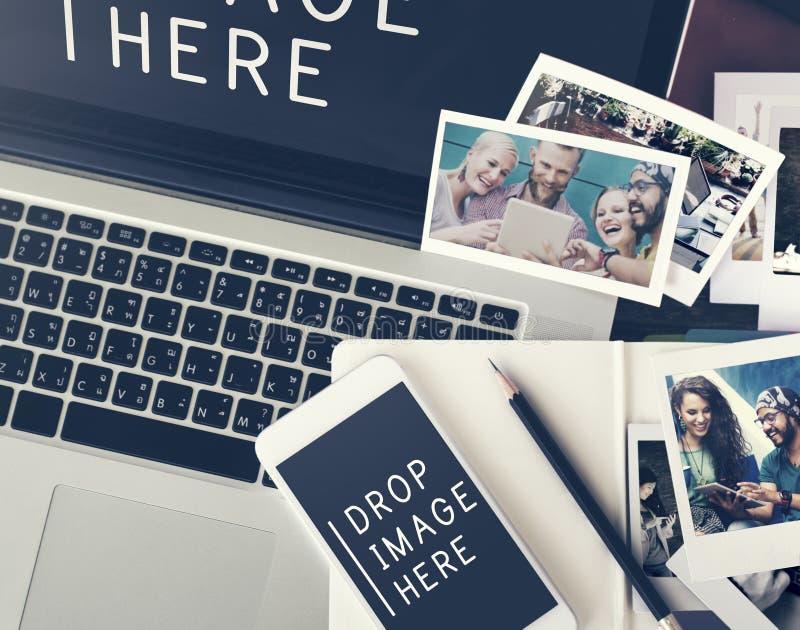Διαφήμιση φωτογραφιών εικόνας που εμπορεύεται την εμπορική έννοια στοκ εικόνες