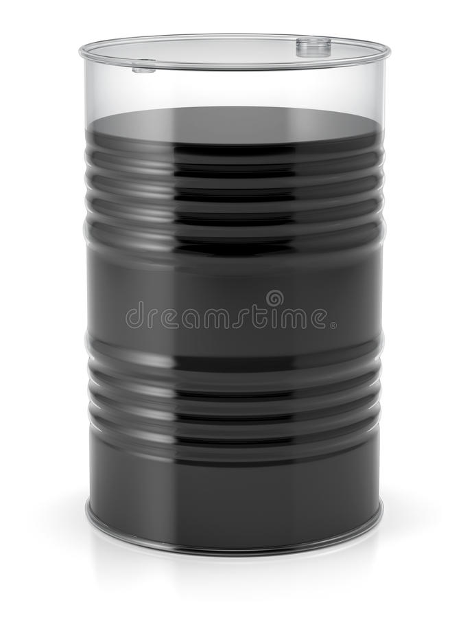 Διαφανές βαρέλι με το πετρέλαιο ελεύθερη απεικόνιση δικαιώματος