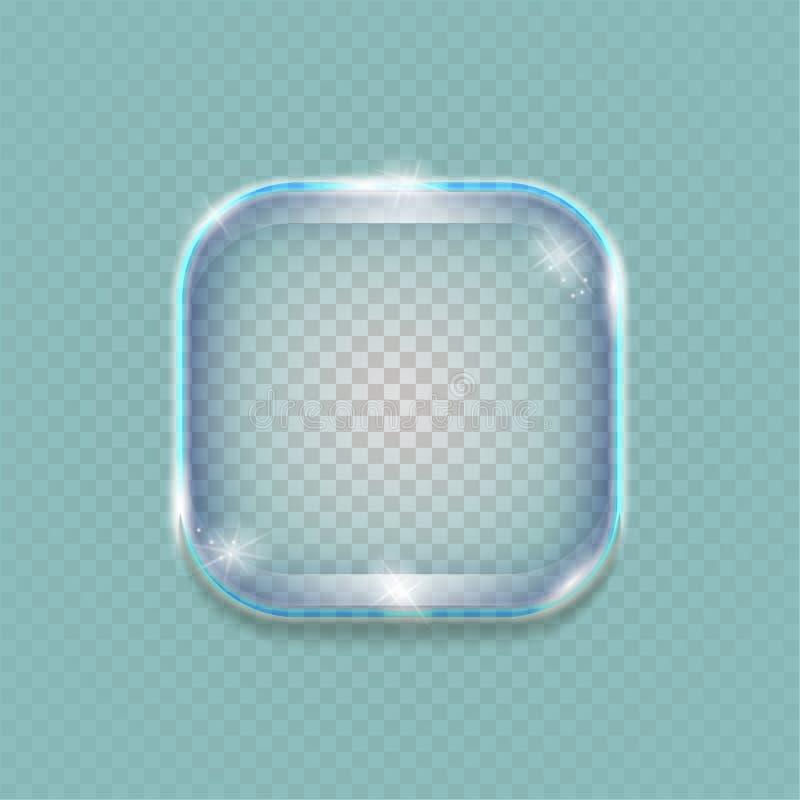 Διαφανές γυαλί εμβλημάτων στοκ φωτογραφίες