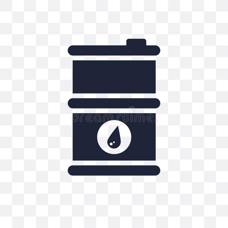 Διαφανές εικονίδιο βαρελιών πετρελαίου Σχέδιο συμβόλων βαρελιών πετρελαίου από Indus απεικόνιση αποθεμάτων