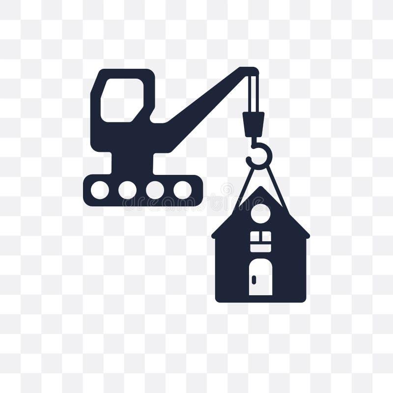 διαφανές εικονίδιο κινδύνου κατασκευής σύμβολο κινδύνου κατασκευής des απεικόνιση αποθεμάτων