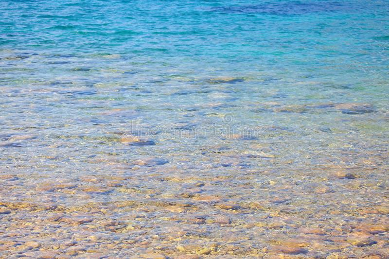 Διαφανές θαλάσσιο νερό στοκ φωτογραφία με δικαίωμα ελεύθερης χρήσης