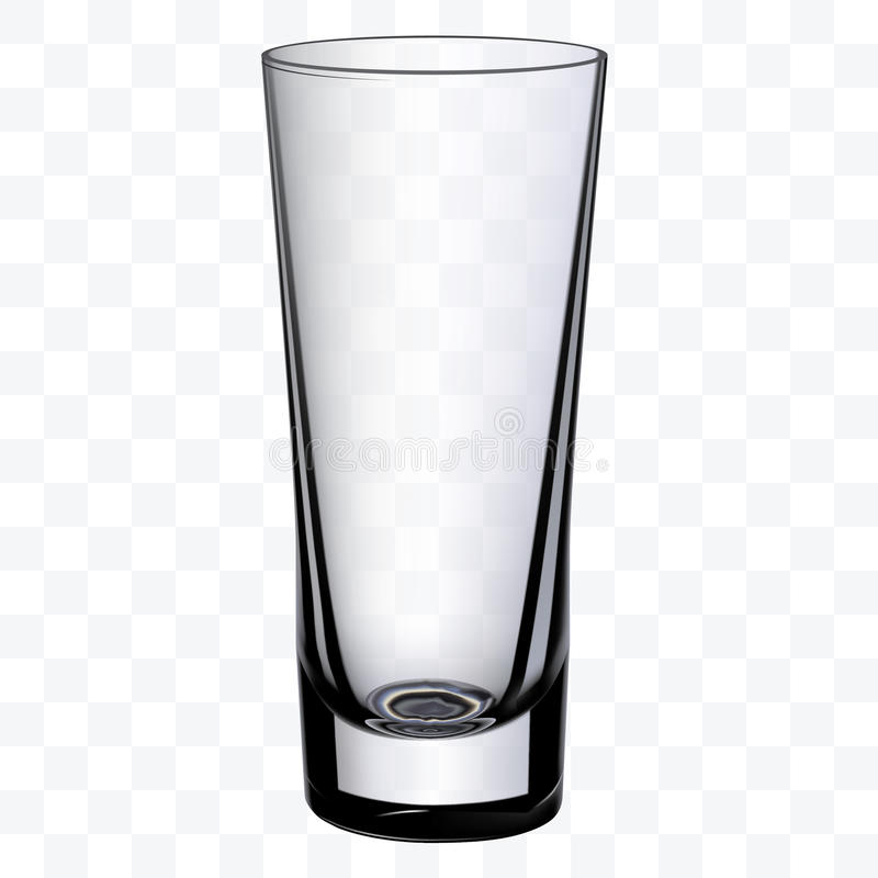 Διαφανές κενό φλυτζάνι γυαλιού κατανάλωσης απεικόνιση αποθεμάτων