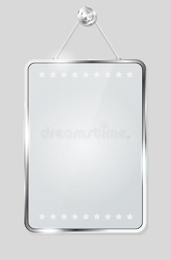 Διαφανές πλαίσιο γυαλιού για το μήνυμά σας απεικόνιση αποθεμάτων