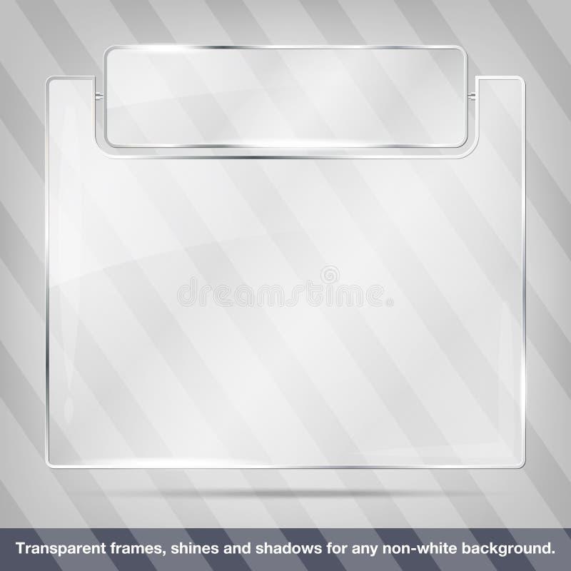 Διαφανές πλαίσιο γυαλιού διανυσματική απεικόνιση