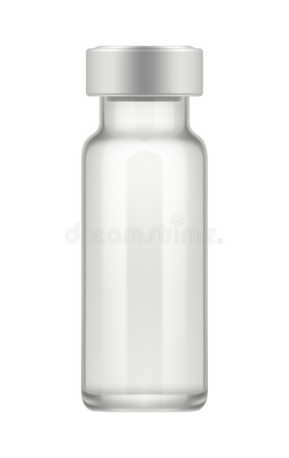 Διαφανές φιαλίδιο γυαλιού για το φάρμακο ελεύθερη απεικόνιση δικαιώματος
