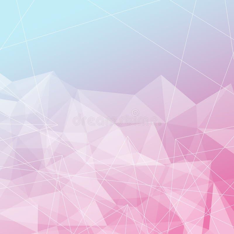 Διαφανές φωτεινό υπόβαθρο δομών κρυστάλλου διανυσματική απεικόνιση