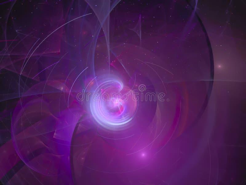διαφανές fractal χρώμα, καλλιτεχνικό πρότυπο ροής φαντασίας επιστήμης περίπλοκο απεικόνιση αποθεμάτων