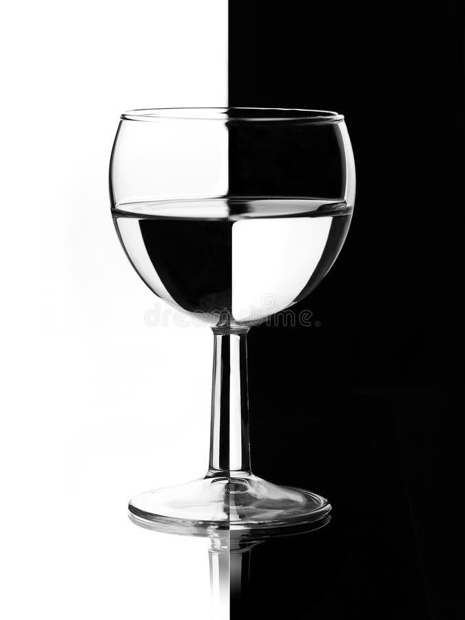 Διαφανές wineglass στοκ φωτογραφία