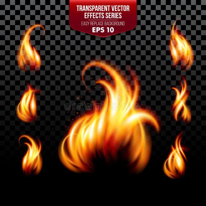 Διαφανής διανυσματική σειρά αποτελεσμάτων εύκολος διανυσματική απεικόνιση