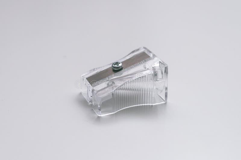 Διαφανής ξύστρα για μολύβια στοκ εικόνα
