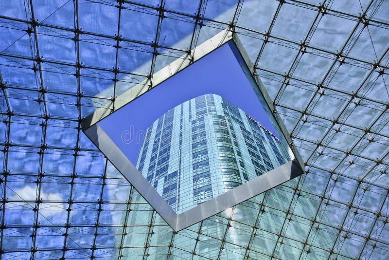 Διαφανής στέγη στο ξενοδοχείο Ritz Carlton, Πεκίνο, Κίνα στοκ φωτογραφία με δικαίωμα ελεύθερης χρήσης
