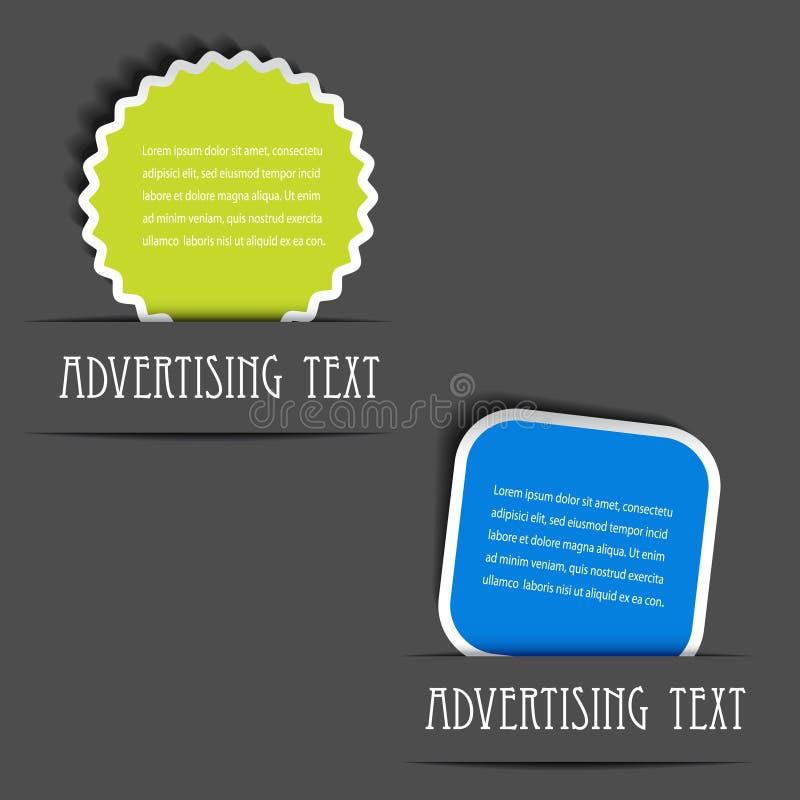 διαφημιστικές ετικέτες διανυσματική απεικόνιση