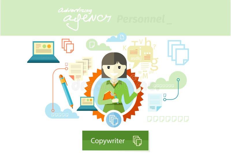 Διαφημιστικός εμπειρογνώμονας της σειράς επαγγέλματος μάρκετινγκ ελεύθερη απεικόνιση δικαιώματος