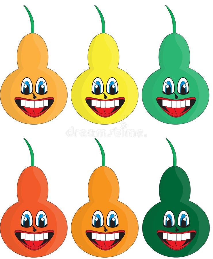 Διαφορετικά αχλάδια χρωμάτων στοκ εικόνες με δικαίωμα ελεύθερης χρήσης