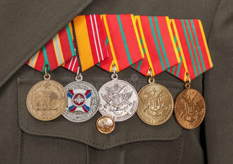 Διαφορετικά βραβεία και μετάλλια στοκ φωτογραφία με δικαίωμα ελεύθερης χρήσης