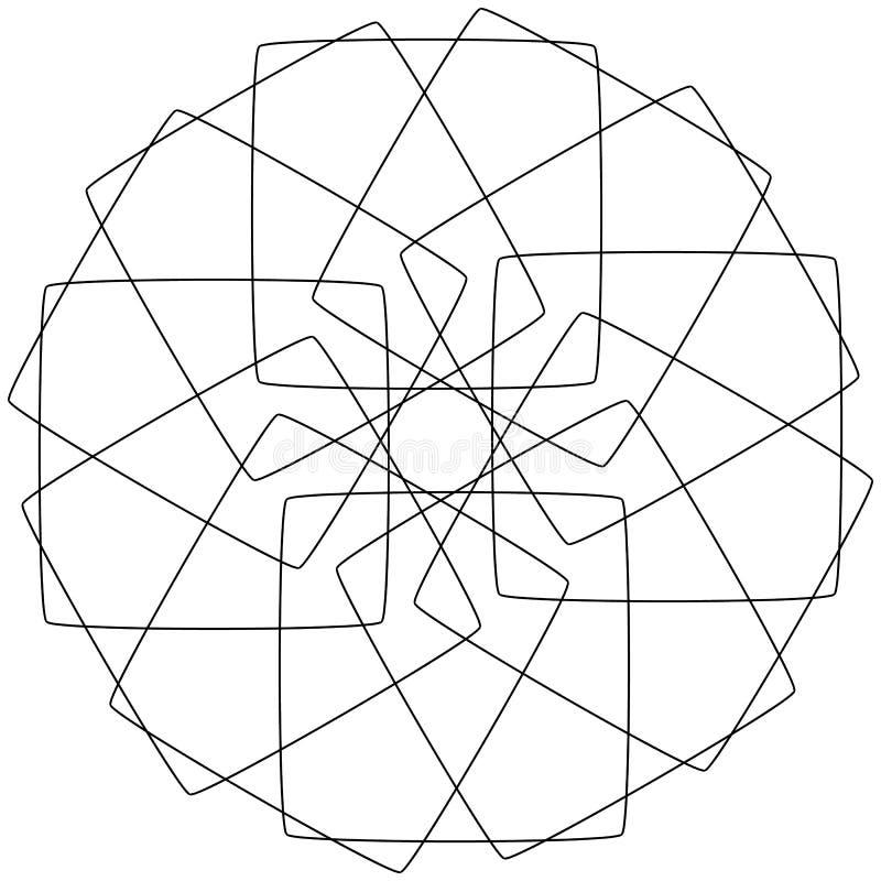 Διαφορετικά γραμμικά γεωμετρικά αντικείμενα Τυχαίες τεμνόμενες γραμμές FO απεικόνιση αποθεμάτων