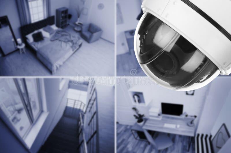 Διαφορετικά δωμάτια υπό επιτήρηση καμερών CCTV στοκ φωτογραφία με δικαίωμα ελεύθερης χρήσης