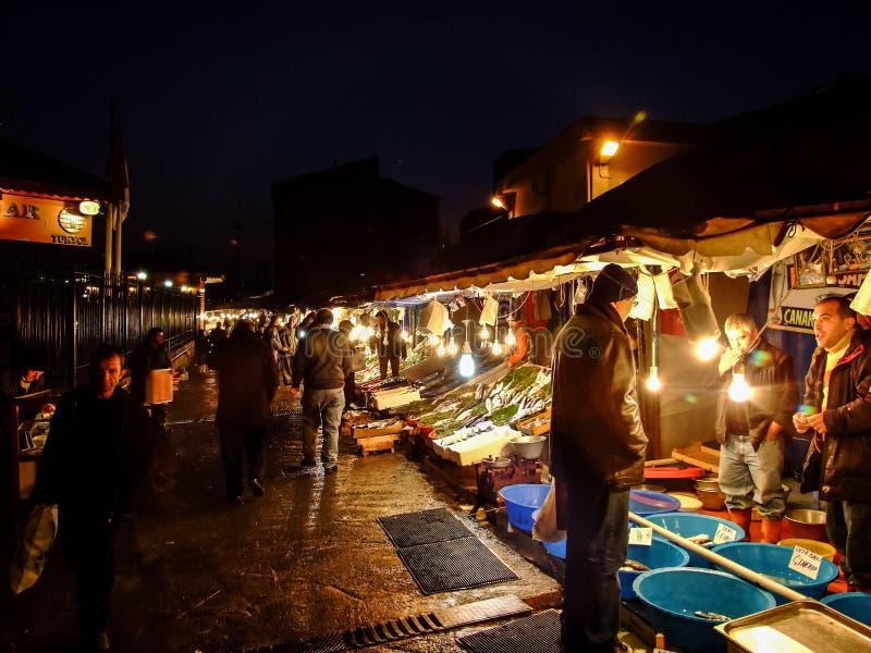 Διαφορετικά είδη φρέσκων ψαριών στην πώληση σε μια αγορά ψαριών στη Ιστανμπούλ, Τουρκία στοκ φωτογραφίες