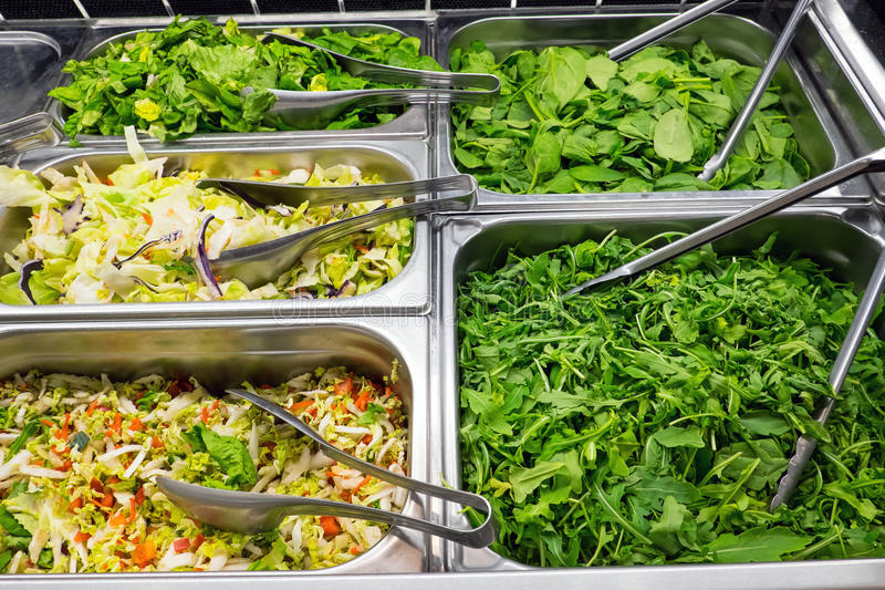 Διαφορετικά είδη σαλάτας στοκ εικόνα
