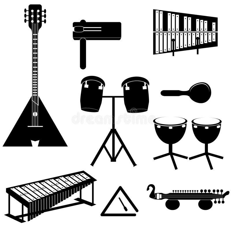 Διαφορετικά μουσικά όργανα στοκ εικόνες