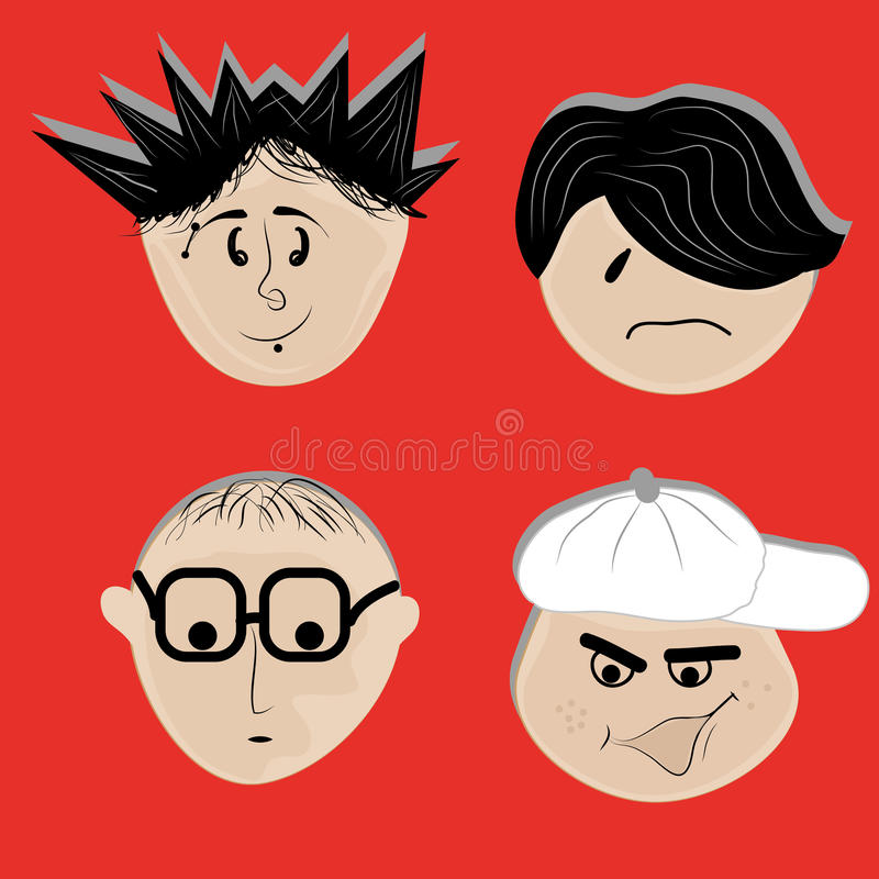 Διαφορετικά πρόσωπα απεικόνιση αποθεμάτων