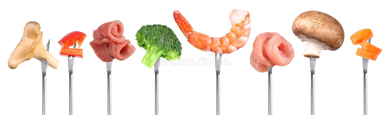 Διαφορετικά συστατικά για fondue στοκ εικόνες με δικαίωμα ελεύθερης χρήσης