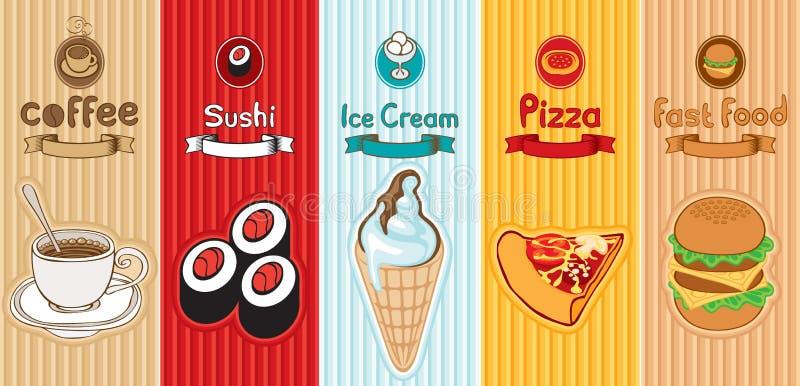 Διαφορετικά τρόφιμα ελεύθερη απεικόνιση δικαιώματος