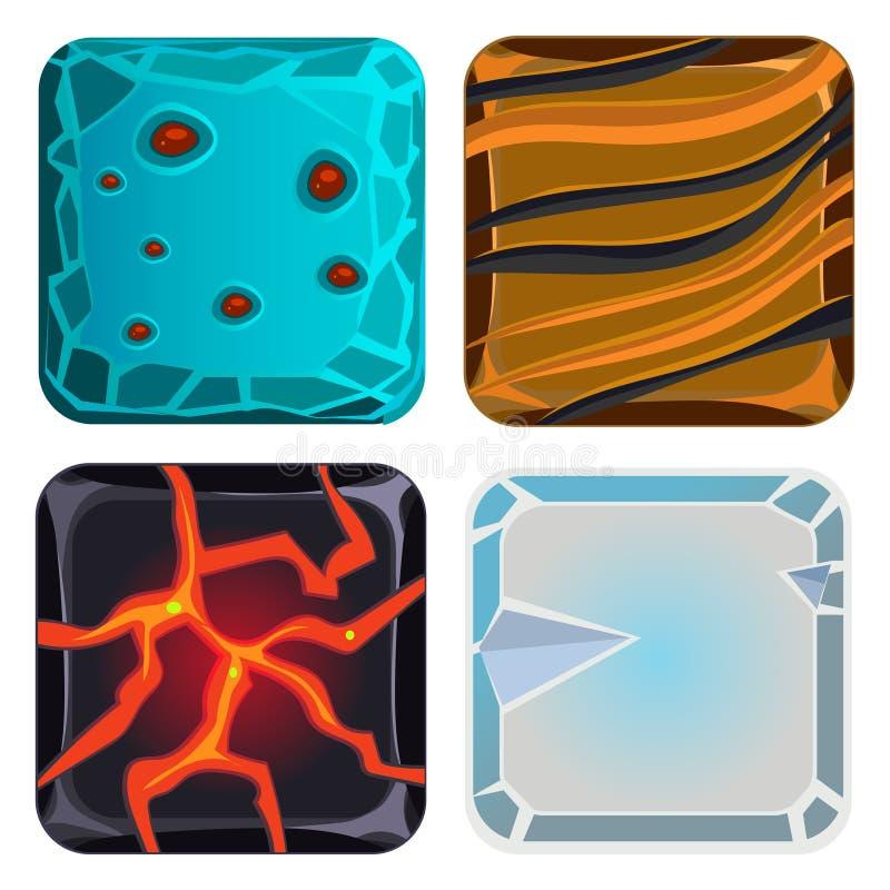 Διαφορετικά υλικά και συστάσεις για το παιχνίδι απεικόνιση αποθεμάτων