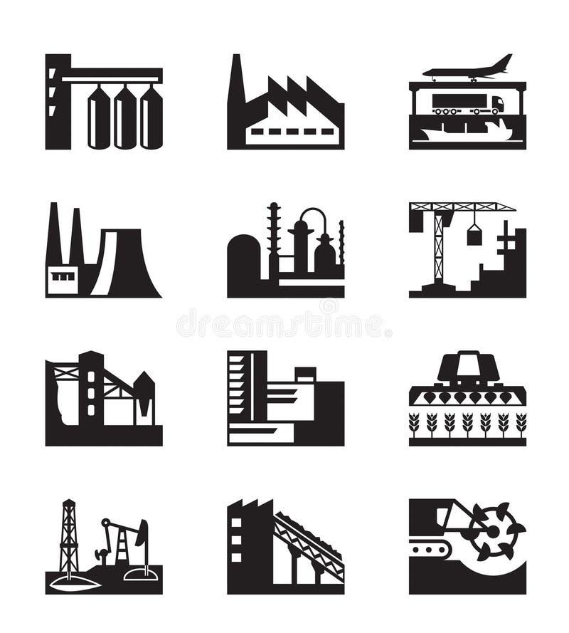Διαφορετικές βιομηχανικές εγκαταστάσεις ελεύθερη απεικόνιση δικαιώματος