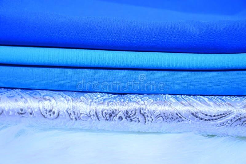 Διαφορετικές λουρίδες του υφάσματος Υπόβαθρο textile στοκ εικόνα