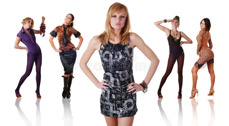 διαφορετικές πέντε γυναί&k στοκ φωτογραφία με δικαίωμα ελεύθερης χρήσης