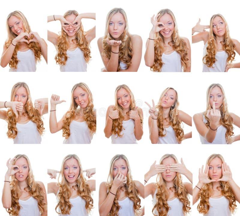 Διαφορετικές του προσώπου εκφράσεις στοκ φωτογραφίες με δικαίωμα ελεύθερης χρήσης