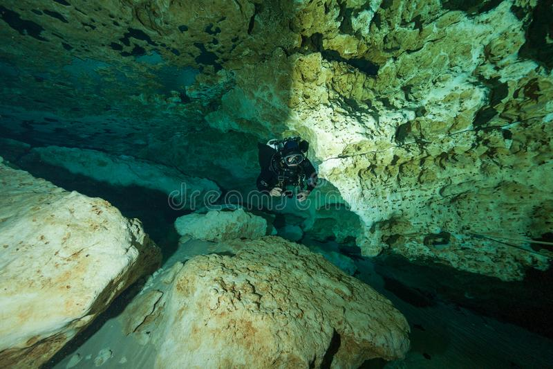 Διαφορετικές υποβρύχιες ανοίξεις Φλώριδα ΗΠΑ κατάδυσης Ginnie σπηλιών στοκ φωτογραφία