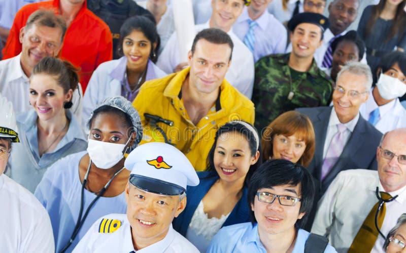 Διαφορετική έννοια σταδιοδρομίας επιχειρηματιών επιτυχής στοκ εικόνες