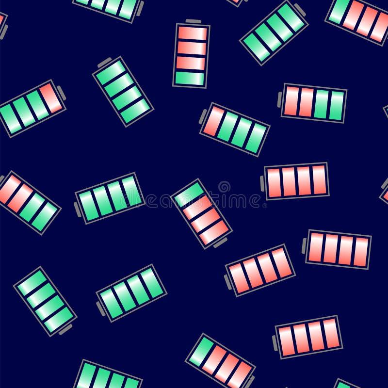 Διαφορετική δαπάνη του άνευ ραφής σχεδίου μπαταριών απεικόνιση αποθεμάτων