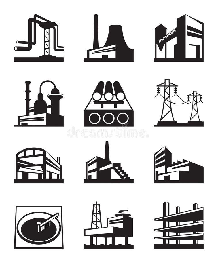 Διαφορετική βιομηχανική κατασκευή απεικόνιση αποθεμάτων