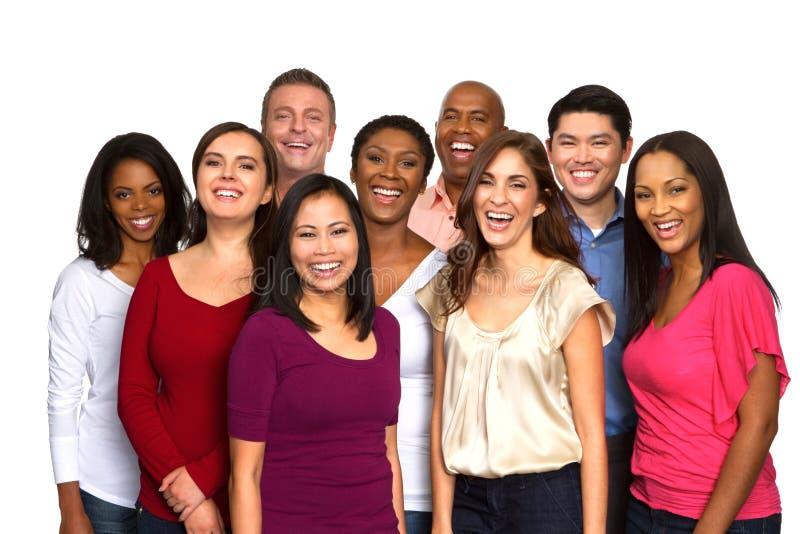 Διαφορετική ομάδα φίλων που μιλούν και που γελούν στοκ εικόνες με δικαίωμα ελεύθερης χρήσης