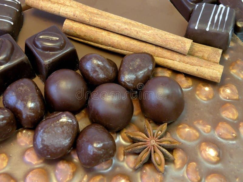 Διαφορετική σοκολάτα μορφής και χρωμάτων και γλυκά, Λιθουανία στοκ εικόνες με δικαίωμα ελεύθερης χρήσης