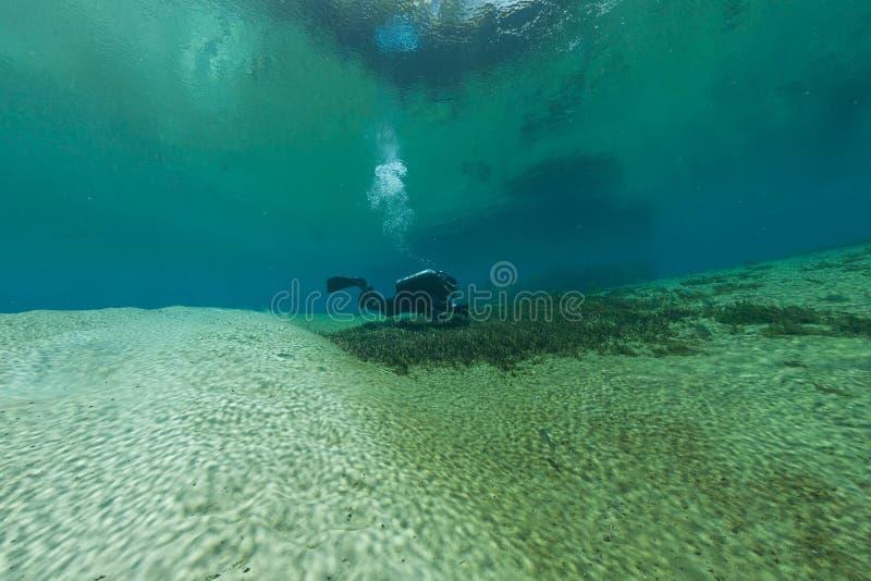 Διαφορετική υποβρύχια μπλε σπηλιά ΗΠΑ κατάδυσης Φλώριδα Τζάκσον σπηλιών στοκ φωτογραφία με δικαίωμα ελεύθερης χρήσης